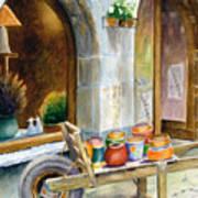 Pottery Cart Art Print