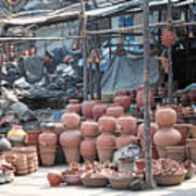 Pottery Shop In India Art Print