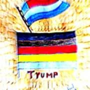 Potus For All Black Brown, Red, Yellow, White Art Print