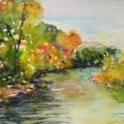Poudre Riverbend Art Print