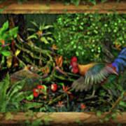 Poultrified Garden Of Eden Art Print