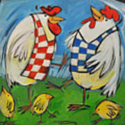 Poultry In Motion Art Print