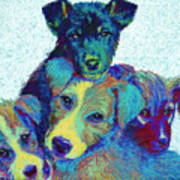 Pound Puppies Art Print by Jane Schnetlage