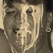 Poured Milk Art Print