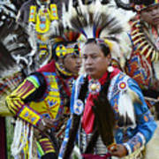 Pow Wow Back In Time 1 Art Print
