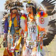 Pow Wow Contestants - Grand Prairie Tx Art Print