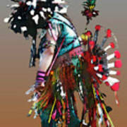 Pow Wow Dancer Art Print