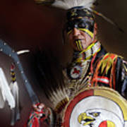 Pow Wow Portrait Of A Proud Man 2 Art Print