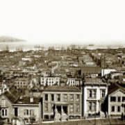 Powell Street Between Sacramento And California San Francisco Circa 1866 Art Print