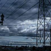 Los Angeles Power Grid At Dusk Art Print