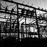 Power Grid In Oregon Art Print