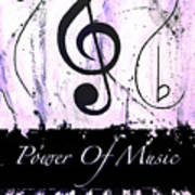 Power Of Music Purple Art Print
