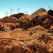 Power Transport From Hoover Dam Art Print