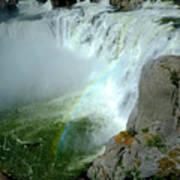 Powerful Large Waterfall Shoshone Falls Amazing Beauty Water Fal Art Print