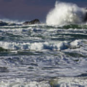 Powerful Waves Crash Ashore Art Print