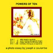 Powers Of Ten In Yellow Art Print