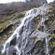 Powerscourt Waterfall In Ireland Art Print