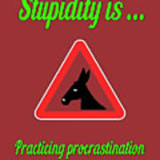 Practicing Bigstock Donkey 171252860 Art Print