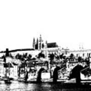 Prague Castle And Charles Bridge Print by Michal Boubin