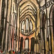 Prague Catherderal Art Print