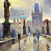 Prague Charles Bridge 02 Art Print by Yuriy  Shevchuk