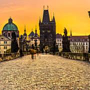 Prague - Charles Bridge - Czech Republic Art Print