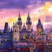 Prague City Of Hundres Spiers Variant Art Print