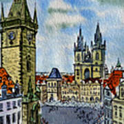 Prague Czech Republic Print by Irina Sztukowski