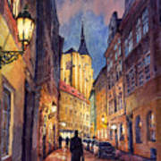 Prague Husova Street Art Print