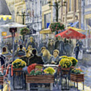 Prague Mustek First Heat Art Print