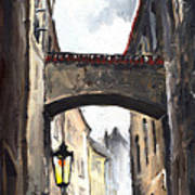 Prague Old Street 02 Art Print