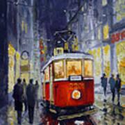 Prague Old Tram 06 Art Print by Yuriy  Shevchuk