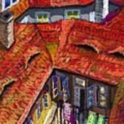 Prague Roofs 01 Print by Yuriy  Shevchuk