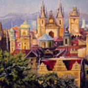 Prague. Roofs. Art Print