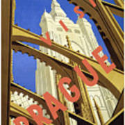 Prague Travel Poster Art Print