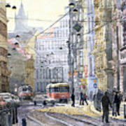Prague Vodickova Str Art Print