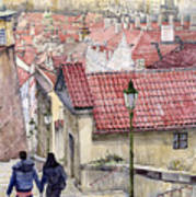 Prague Zamecky Schody Castle Steps Art Print