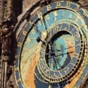 Praha Orloj Art Print