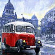 Praha Rnd Bus 1950 Skoda 706 Ro Art Print
