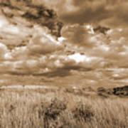 Prairie And Sky Art Print