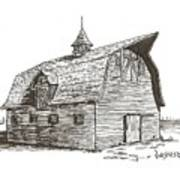 Prairie Barn Art Print by Rick Stoesz