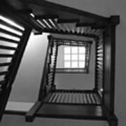 Prairie House Stairs Art Print by Anna Villarreal Garbis