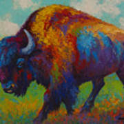 Prairie Muse - Bison Art Print by Marion Rose