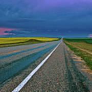 Prairie Storm Saskatchewan Art Print