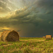 Prairie Storms Art Print by Stuart Deacon