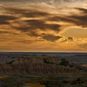 Prairie Wind Overlook Badlands South Dakota Art Print