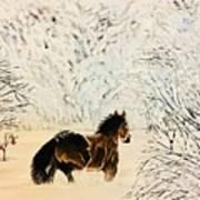 Prancing Through The Snow Art Print