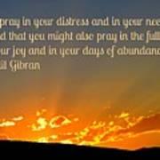 Pray Abundantly Art Print