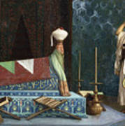 Prayer At The Sultan's Room  The Grief Of Akubar  Art Print