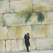 Praying At The Western Wall Art Print